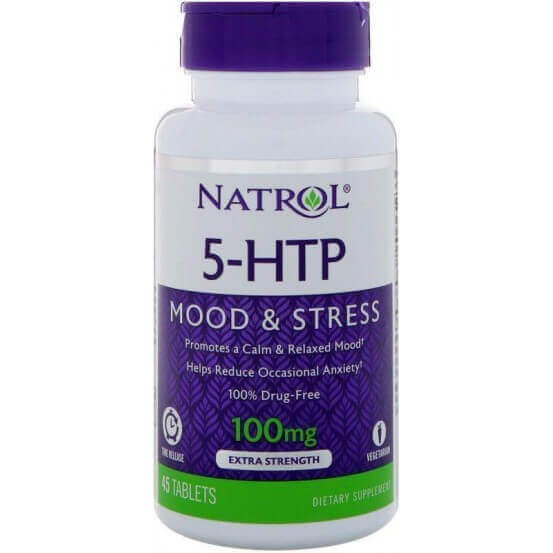 5-HTP 100mg Time Release 45 Comprimidos Natrol