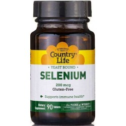 Selênio 200mcg 90 Comprimidos Country Life