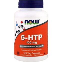 5-HTP, 100mg, 120 Cápsulas Vegetarianas, Now Foods
