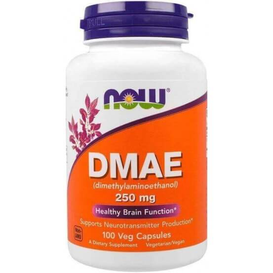 DMAE, 250mg, 100 Cápsulas Vegetais, Now Food