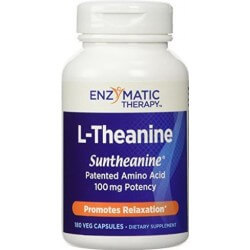 L-theanine, 100mg, 180 Capsulas Vegetarianas, Enzymatic Therapy