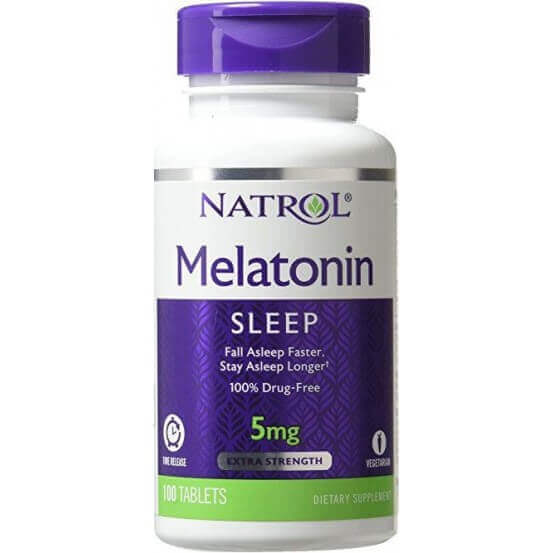 Melatonina, 5mg, Time Release, 100 Comprimidos, Natrol