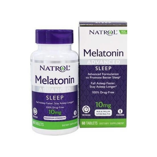 Melatonina, Advanced Sleep, 10mg, 60 Comprimidos, Natrol