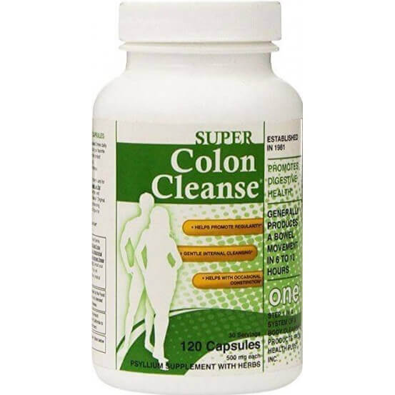 Super Colon Cleanse, 500mg, 120 Capsulas, Health Plus Inc