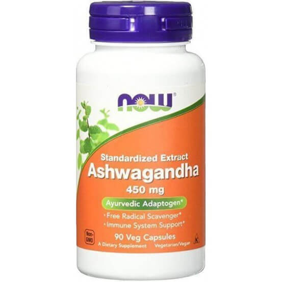 Ashwagandha, 450mg, 90 Capsulas Vegetais Now Foods 733739046031