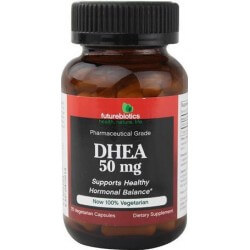 DHEA, 50mg, Grau Farmacêutico, 75 Capsulas Vegetais, Futurebiotics