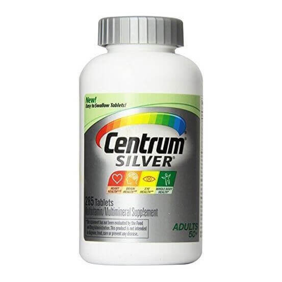 Centrum Silver Adults 50 + 285 comprimidos Pfizer 300054463715