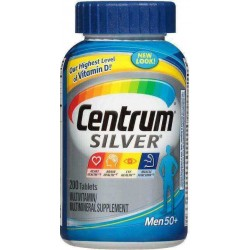 Centrum Silver Men, 50 +, Multivitamínico/Multimineral, 200 Comprimidos