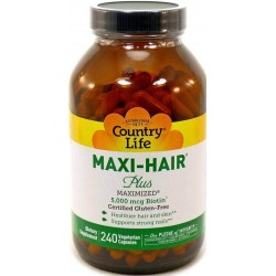 Maxi-Hair Plus, 240 Capsulas Vegetais, Country Life