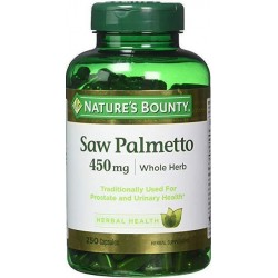 Saw Palmetto, 450mg, 250 Cápsulas, Nature's Bounty