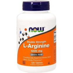 L-arginina, 1.000mg, 120 comprimidos, Now Foods
