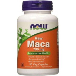 Maca Peruana, Crua, 750mg, 90 Capsulas Vegetais, Now Foods