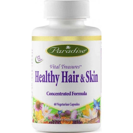 Vital Treasures, Healthy Hair & Skin, 60 Capsulas Vegetais, Paradise Herbs