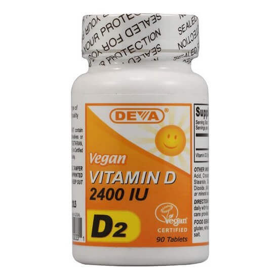 Vitamina D2, Vegana, 2400ui, 90 Comprimidos, Deva