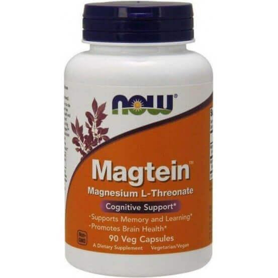 Magnésio L-Treonato, Magtein, 90 Capsulas Vegetais, Now Foods