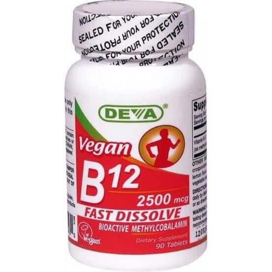Vegan B12, 90 Comprimidos, Deva