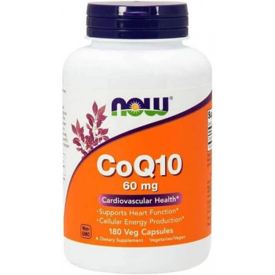 Coenzima Q10  60mg 180 Cápsulas Now foods