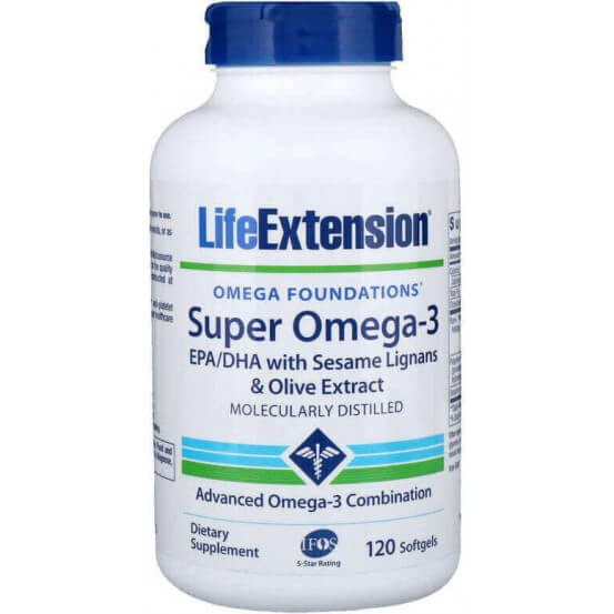 Super Omega-3, 120 Softgels, Life Extension