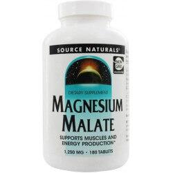 Magnesio Malato, 1250mg, 180 Comprimidos, Source Naturals