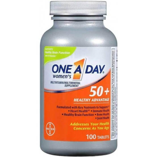 One-A-Day, Women's 50+ Multivitamin/Multimineral Supplement, 100 Comprimidos