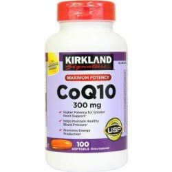 Coenzima Q10, 300mg, 100 Softgels, Kirkland Signature, 096619928118