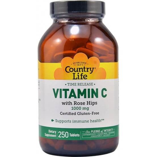 Vitamina C 1000mg Time Release 250 Comprimidos Country Life