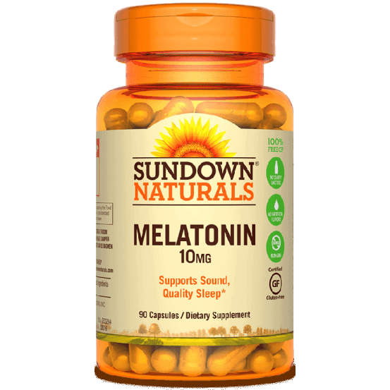Melatonina, 10mg, 90 Capsulas, Sundown
