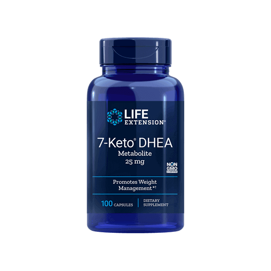 7-keto DHEA, 25mg, 100 Capsulas, Life Extension