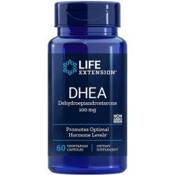 DHEA 100mg 60 Cápsulas Grau Farmacêutico Life Extension