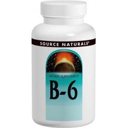 Vitamina B6, 100mg, 250 Comprimidos, Source Naturals