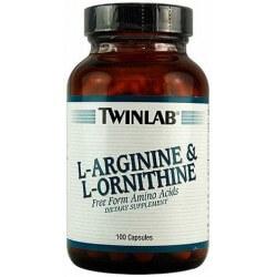 L-arginina & L-ornitina 100 Cápsulas Twinlab