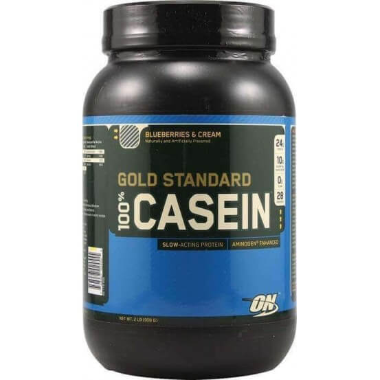 100% Gold Standard Caseina Blueberries and Cream Optimum Nutrition