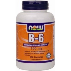 Vitamina B6 100mg 250 Cápsulas Now Foods