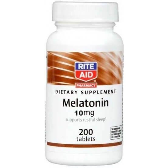 Melatonina 10 mg 200 comprimidos Rite Aid 011822543118